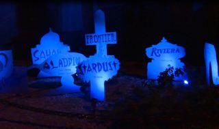 Halloween display honors defunct Vegas casinos