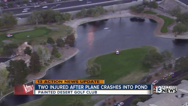 Small plane crashes in pond at northwest valley golf course