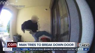 VIDEO: Stranger hurls himself at door in Vegas