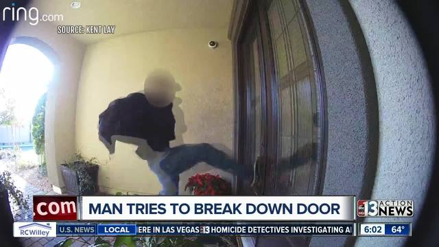 Shocking video shows man hurling himself at a door, trying ...