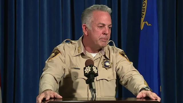 Sheriff Joe Lombardo gives a press conference on the Las Vegas 1 October…