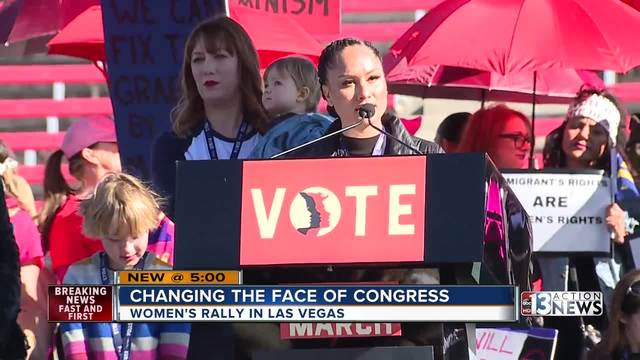 Women's Marches Continue in Las Vegas, European Cities