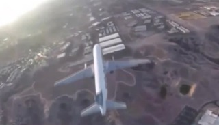 Drone comes close to plane landing in Vegas