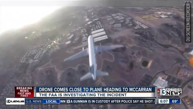 ONLY ON 8: Drone flies within feet of arriving aircraft at McCarran