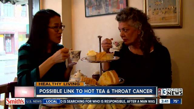 Could consuming hot beverages such as tea lead to cancer? The answer is yes if the tea drinkers also drink and smoke.                      KTNV
