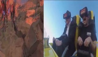 Experience a virtual reality roller coaster
