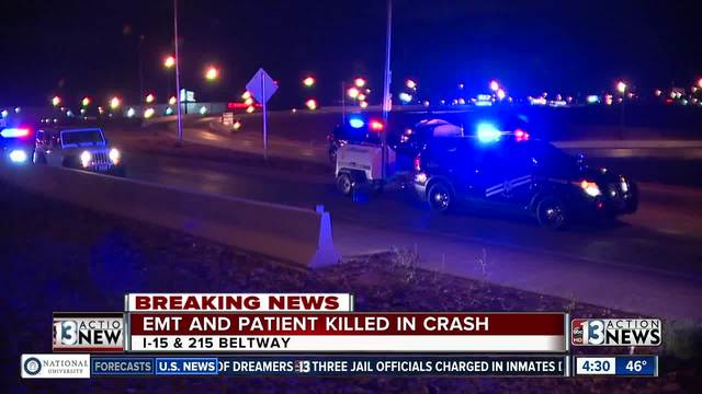 EMT, patient killed in Las Vegas rollover after driver loses control