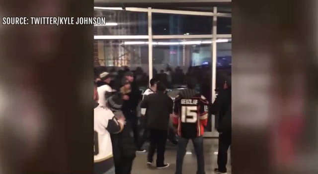 Fight breaks out at Vegas Golden Knights game