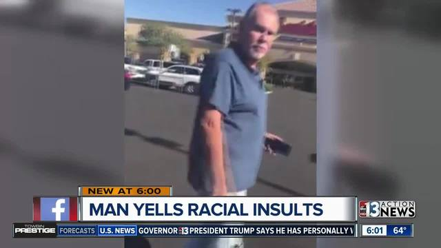 Man caught on camera hurling racial insults