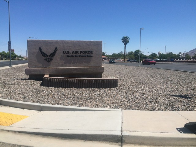 Military plane catches fire at Nellis; no serious injuries