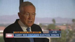Reid on Trump and Obama half-brother at debate
