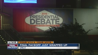 Final presidential debate concludes at UNLV