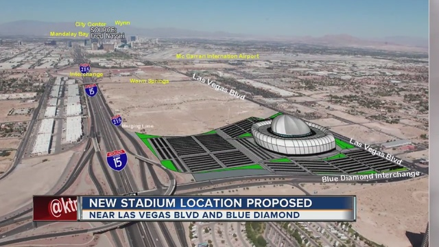new possible raiders stadium location suggested in las vegas ktnv