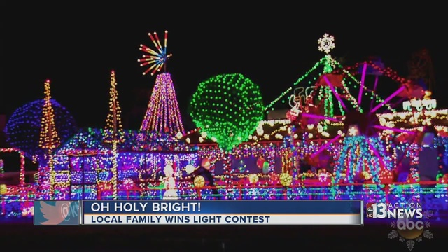 Boulder City family wins national Christmas lights competition ...