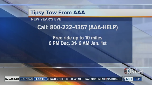 AAA Is Offering Its Tipsy Tow Program On New Years Eve Even If Youre Not A Member