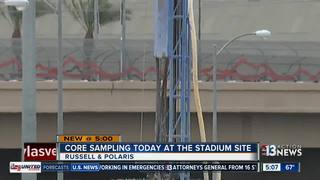 Core samples taken from preferred stadium site