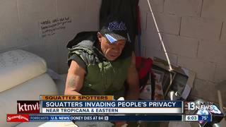 SQUATTERS: Squatters living behind dumpster