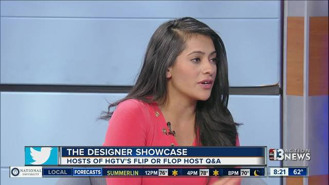 Autoplay. Hosts of HGTV s Flip or Flop Vegas team with designer showcase