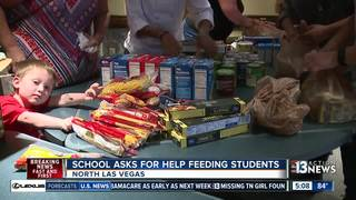VEGAS CARES: Charity donates food to high school
