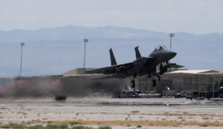 Nellis AFB conducting Red Flag exercises