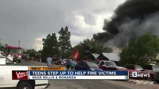 Teen gives school supplies to kids after fire