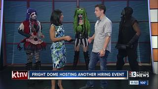 Fright Dome hosting hiring event