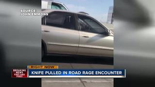 Knife pulled in apparent case of road rage