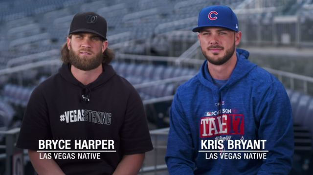 Kris Bryant, Bryce Harper video to help victims