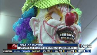 Fear of clowns not uncommon