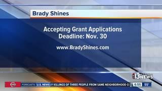 Brady Shines helps nonprofits with grants