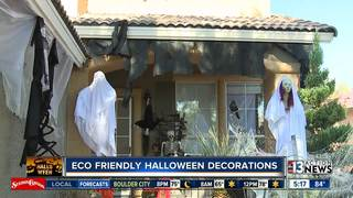 Halloween display uses recycled materials