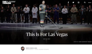 Golden Knights player pens Vegas Strong article