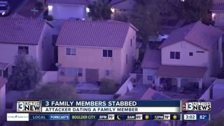 3 family members stabbed Wednesday morning