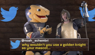 Golden Knights mascot responds to mean tweets