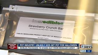 Marijuana edibles and Halloween candy