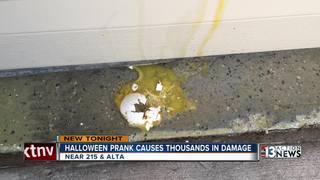 Egging prank causes thousands in damage