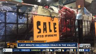 Last-minute shopping for Halloween