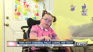 Las Vegas teen loses eyesight