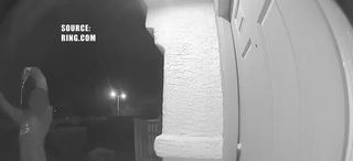 Video catches man waving gun outside home