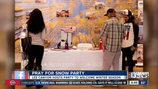Lee Canyon, Skye Canyon host Pray for Snow party