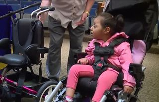 Special bike helps disabled child