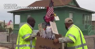 Crosses for mass shooting victims moved