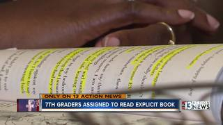 7th graders assigned to read explicit book