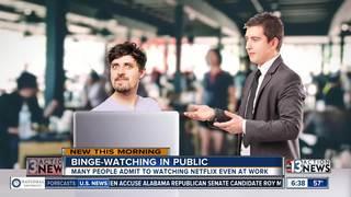 People are binge watching in public, restroom