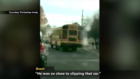 School bus driver fired after scary crash
