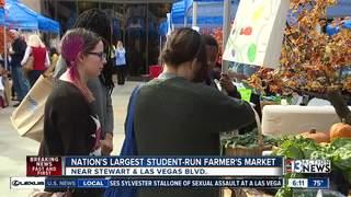 CCSD students sell produce at farmers' market