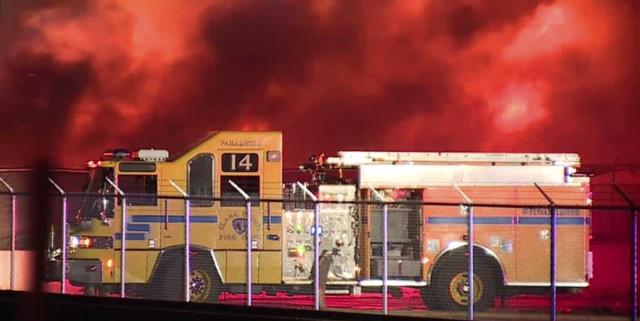 Fire destroys cars at Las Vegas tow yard