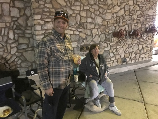 Black Friday campers helping burglary victim