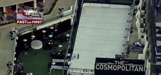 Chopper 13 flies over Cosmopolitan ice rink