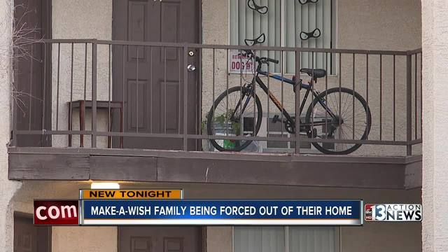 Make-A-Wish family forced out of home